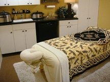 Massage Therapy Treatment Table and Room